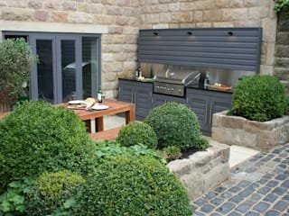 Urban Courtyard for Entertaining Jardines modernos de Bestall & Co Landscape Design Ltd Moderno