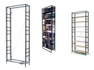 Buchspanner Regal: industriale Arbeitszimmer von ADUS.design  Inh. Manuel Pfahl