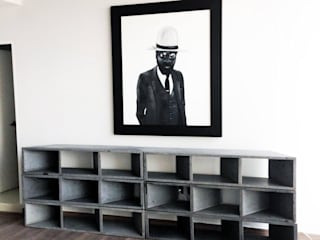 Librero Sean: Estudios y oficinas de estilo  por MDC MUEBLES DE CONCRETO,