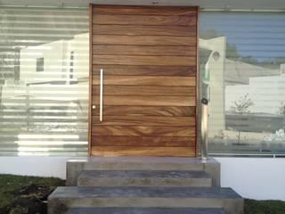 Puerta de Bosque Dormitorios minimalistas de Arki3d Minimalista