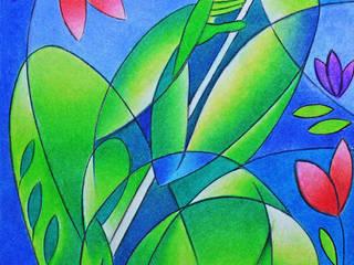 Pastel painting: modern  by Self employed artist,Modern