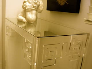 Acrylic Bedroom Side Table:   by A.Luxe & Co.