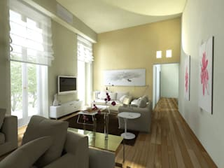 Virtual Home Staging Soggiorno : Soggiorno in stile in stile Moderno di AAA Architettura e Design