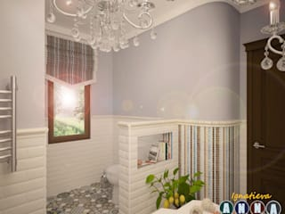 Mediterranean style bathroom by Дизайн-студия Анны Игнатьевой Mediterranean
