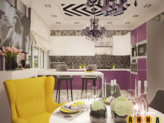 Modern living room by Дизайн-студия Анны Игнатьевой Modern