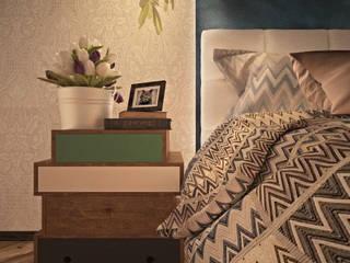 Eclectic style bedroom by Дизайн-студия Анны Игнатьевой Eclectic