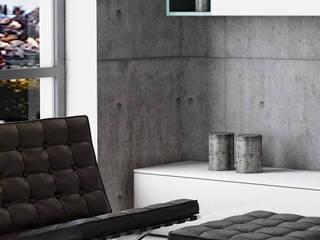 LOFT 101: Soggiorno in stile  di gca giuseppe cetere architetto