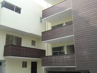 Edificio de departamentos en Mateo Herrera (San José Insurgentes) de Shimada Flooring