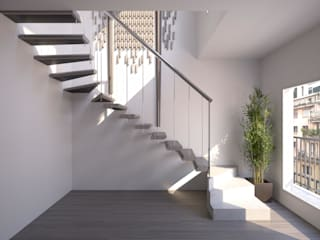 Corridor, hallway & stairs design ideas by Realistic-design