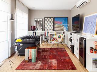 Livings de estilo  por Mauricio Arruda Design