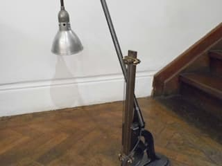 Upcycled Industial Lamp Travers Antiques Living roomLighting