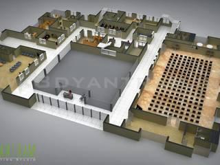 Commerciale 3D del pavimento piano di studio di design:  in stile  di 3D Yantram studio di animazione