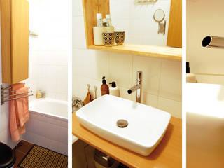 Appartement Bohème: Salle de bains de style  par Harfang Decoration