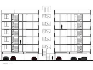 Corte Longitudinal : Casas de estilo  por RECON Arquitectura