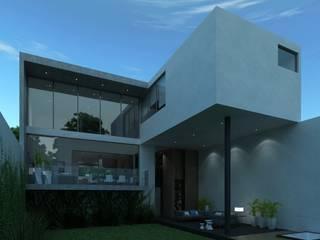 Fachada posterior: Casas de estilo  por TaAG Arquitectura