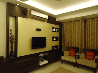 Living room:   by kavita bhaleraio design studio