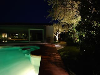 Private Villa in the Emerald Coast Cannata&Partners Lighting Design Casas de estilo moderno