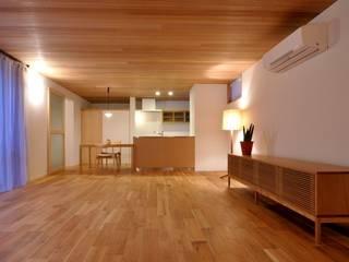 軒下のいえ: ツジデザイン一級建築士事務所が手掛けたリビングです。