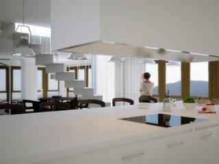Penthouse Atalaya INTERCON Cocinas de estilo moderno