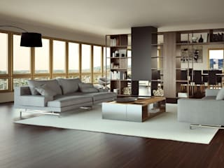 Penthouse Atalaya INTERCON Salones de estilo moderno
