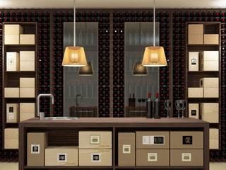 Mueble botellero Esigo 2 Wall Bodegas modernas de Esigo SRL Moderno