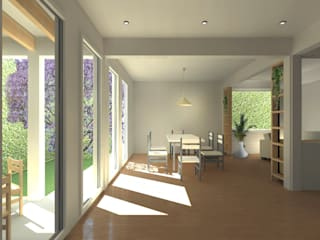 Casa Jacaranda:  de estilo  de estudio-HA