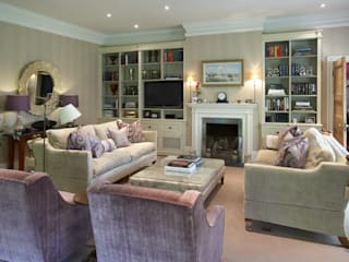 Sitting Room in pastel shades: classic Living room by Barkers Interiors