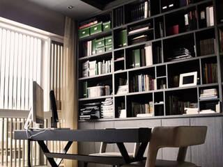 Semi Detached House, Luxus Hill モダンデザインの 書斎 の Honeywerkz モダン