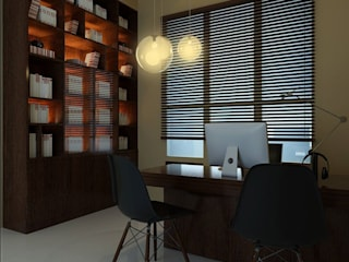 Study Area | Ponderosa Green: minimalistic Bedroom by Honeywerkz