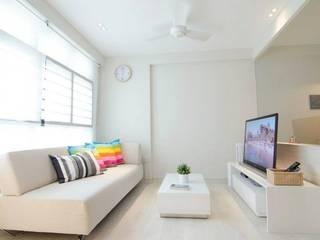 Living Room | Punggol Field Honeywerkz Livings de estilo minimalista