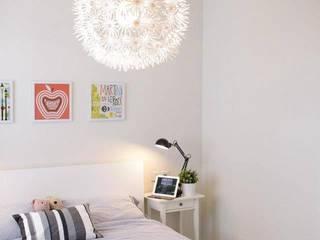 Apartment at Punggol Field ミニマルスタイルの 寝室 の Honeywerkz ミニマル