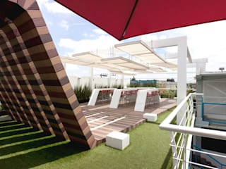 Boutique de Arquitectura (Sonotectura + Refaccionaria) Teras: Ide desain, inspirasi & gambar