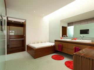 FF HOUSE Baños modernos de Hernandez Silva Arquitectos Moderno