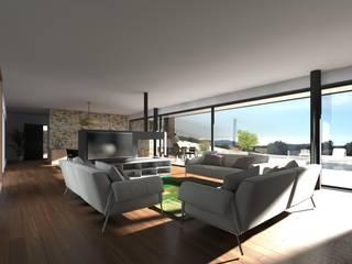Vue du Salon:  de style  par Atelier-RS Architecture