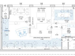 """""""Colours"""" Agostinelli Architetti - Green Interior Design Complesso d'uffici in stile eclettico"""