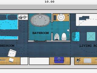 """Concorso """"Young Designers 2011"""" - """"How tomorrow hotel's room will be"""" Agostinelli Architetti - Green Interior Design Hotel moderni"""