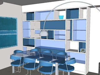 """""""Two colours"""" Agostinelli Architetti - Green Interior Design Soggiorno moderno"""