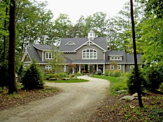 New England style traditional home in forest setting Schema Studio Limited
