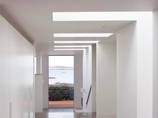 Le Portelet Modern corridor, hallway & stairs by JAMIE FALLA ARCHITECTURE Modern
