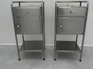 Vintage Industrial Bedside Cabinets Travers Antiques BedroomBedside tables