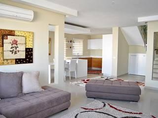 Azure Villaları 4 Odalı Müstakil Villalar Modern Oturma Odası Estateinwest Modern
