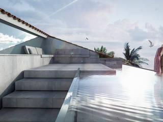 Reforma de ático en Marbella Balcones y terrazas de estilo minimalista de KA Arquitectos Minimalista