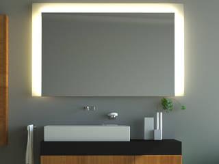 Badspiegel mit Hinterleuchtung: modern  von Schreiber Licht-Design-GmbH,Modern