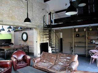 Salon : Maisons de style de style Industriel par Alizé Chauvet Architecte - Designer intérieur