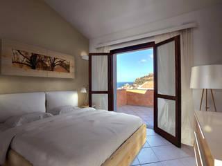 Modellazione di interni camera da letto : Camera da letto in stile in stile Moderno di AAA Architettura e Design