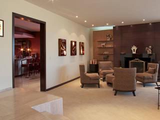 Casa Popotla: Salas de estilo moderno por Chávez & Díaz Arquitectos