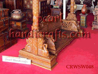 hand carved teak swing:   by Pearl Handicrafts