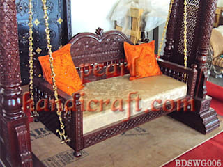 Heavy carved swing:   by Pearl Handicrafts