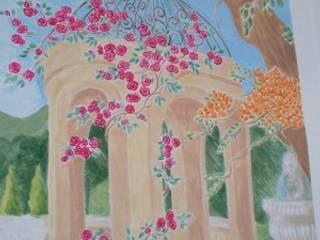 Pareti colorate e decorate Pareti & Pavimenti in stile classico di Artmospheradesign Classico