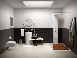 Ванные комнаты в . Автор – Lineabeta, Эклектичный